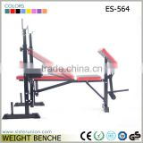 ES-564 OEM home body exercise up foldable weight bench,cheap workout bench