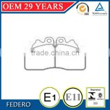 OEM 29 Years high painting semi metallic, ceramic formula GDB5113 OEM2996518 brake pads with shim for IVE