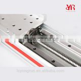 Travel length motorized linear guide rail systems with aluminum linear rail for xyz linear stage