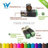 hot sale bnc male connector with screw terminal gold pin