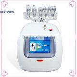 1MHz 2016 BESTVIEW CE Approved Vacuum Ultrasonic Liposuction Equipment Cavitation System For Fat Reduction Skin Rejuvenation