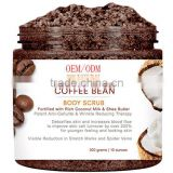 Body Essentials Arabica Coffee & Coconut Milk Scrub for Cellulite and Wrinkle Reduction,Stretch Marks