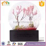 INQUIRY ABOUT Factory Custom made best home decoration gift polyresin resin wooden snow globe