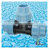PP Compression Fittings(Italy Standard) Equal Tee (E.T) /PP Fittings /HDPE fitting