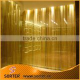 flexible metal mesh curtains/sequin wire mesh/sequin cloth fabrics for room partition screen