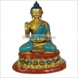 Indooor antique fengshui metal bronze statue buddha india for sale