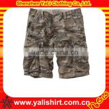 custom leopard print cargo shorts for men