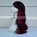 Heat Resistant Synthetic Fiber Ombre Wig,Natural Scalp Synthetic Hair Wig