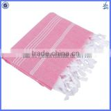 2017 hot selling nice quality 100x180cm hamam turkish bath towel with tassels
