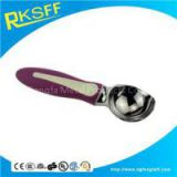 Zinc Alloy Red Handle Ice Cream Spoon