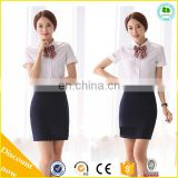 2015 Hot Sale Lady Office Skirt Suit, Ladies Bank Uniform, Ladies Airline Uniform for Women