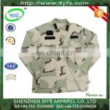 Wholesale Factory OEM Army Tactical BDU Camouflage Military Uniform/Three-Color Design Battle Dress Uniform