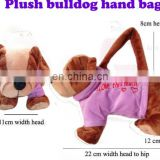 custom lovely dog toys plush handbag toy Dongguan Factory
