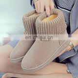 Fashion lady winter boots punk rivet style women ankle strap chunky heel shoes