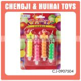 Plastic party set colorful wholesale birthday candles