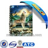 lenticular manufacturer a3 size notebook with high quality