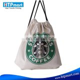 Sublimation Printing Canvas Gym Sack Drawstring Bag For Teens