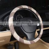 Ethnic Style Coarse Flax Cloth Automotive Steering Wheel Cover Anti Slip and Sweat Absorption Auto Car Wrap Cover