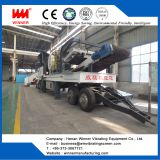Tyre type mobile crushing station for  stone production line