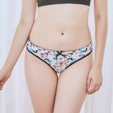 Yun Meng Ni Sexy Underwear Cute Flower Printed Briefs Ultra Comfortable Cotton Ladies Panties