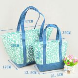full printed polyester cooler bag with tote handle from China
