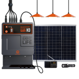 Portable Home Solar Power Systems with 3 LED Bulbs Radio and Flash Torch Lights and Mobile Phone charging
