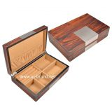 Custom logo velvet wooden packaging jewelry boxes
