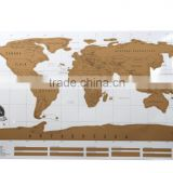 Creative gift Decorative World Map and Scratch Map scratch Around the World Map Poster with Eco-friendly PVC