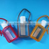 hand-washing liquid silica gel bottle,Hand Sanitizer Bottle With Silica Gel Case 15ml