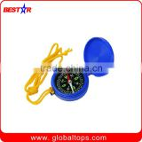 Mini Plastic Compass with Rope for Traveling