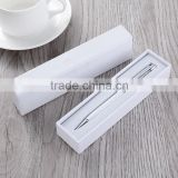 promotional gift crystal pen white paper box packaging                                                                                                         Supplier's Choice