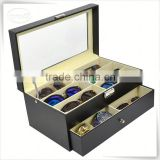 Luxury handmade cumstermized pu leather glasses case for car                                                                                                         Supplier's Choice