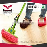 Chenille Fibre Washable Dust Mop Shoes Cover House Floor Cleaning Slippers Removable Cleaning Tool Purple