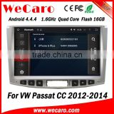 Wecaro WC-VU1011 Android 4.4.4 car dvd player quad core for volkswagen passat cc car navigation system audio system 1080p