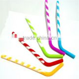 Hottest Sale Reusable Non toxic flexible silicone Straws