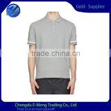 Promotional New Style Polo Neck Quality Cotton Mens Fitted Blank T-shirts