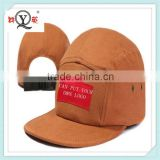 5 panel hat woven patch snap strap back custom logo 5 panel hat wholesale alibaba