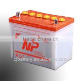 professional manufacturing high quality lead acid Dry Charged storage Car Battery N60 12V60Ah
