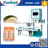 10-25KG wheat packing machine/wheat flour packing machine with conveyor and sewing machine