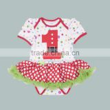 birthday baby tutu romper 1year newborn baby clothes polka dot baby clothes girl OEM