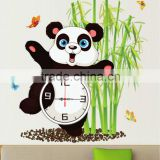 Alforever hot sale panda with Bamboo sticker wall clock