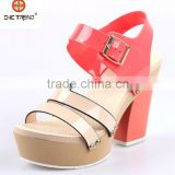 2015 pvc upper jelly sandals beach use elegant high heels brazil melissa shoes woman sandals strap lady shoes