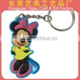 Custom Phthalate free soft PVC 3D mouse keychain