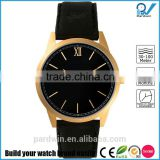 Brushed IPG Gold Plated 316L stainless steel case and indexes sapphire crystal anti-reflective coating date function
