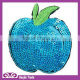 Wholesale Green Apple Embroidery Handmade Sequin Patches