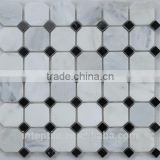 foshan carrara bianco marble mosaic tile for decoration 30x30                                                                                                         Supplier's Choice