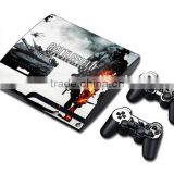 Skin Stickers Protector Cover For PS3 Slim Console Vinyl Decal For Playstation 3 Slim and 2 Controller Skins