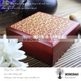 HONGDAO wooden brooch box, crafted wooden brooch box, crafted wooden brooch box direct supplier