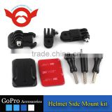 2016 hot selling gopro accessories Helmet Side Mount kit with Curved Adhesive Side Mount for GoPro Hero 4/3+/3/2/1