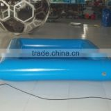 Durable 0.9mm pvc tarpaulin clear blue funny inflatable above ground swimming pool on hot selling